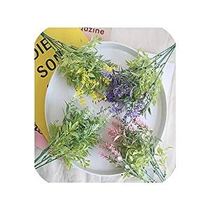 Barry-Story Fake Flowers 1 Bunch 15 Flower Heads Artificial Lavender Plastic Flower Home Decoration Accessories decoracao de Festa 52