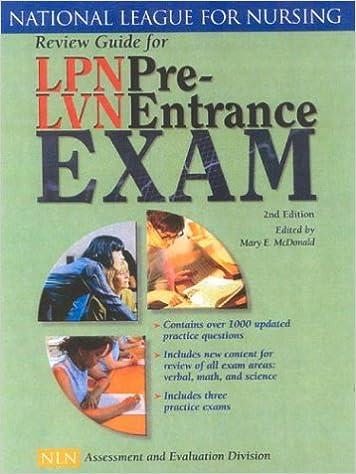 Review guide for lpnlvn pre entrance exam second edition review guide for lpnlvn pre entrance exam second edition 2nd edition fandeluxe Images