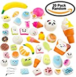 20 Pack Slow Rising Squishies, 2 x Big 5 x Middle 13 x Little size, Slow Rising Soft Squishy Jumbo Soft Squishy Charms Toy for Stress Relief and Time Killing