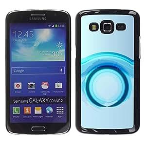 FECELL CITY // Duro Aluminio Pegatina PC Caso decorativo Funda Carcasa de Protección para Samsung Galaxy Grand 2 SM-G7102 SM-G7105 // Ring Future Water Grey Gray