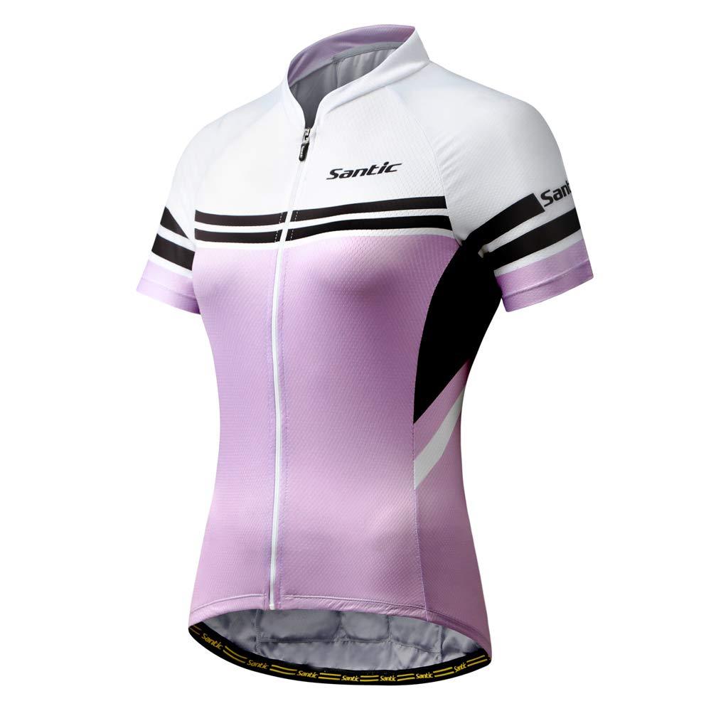 Santic Women's Full-Zip Short Sleeve Cycling Jersey by Santic