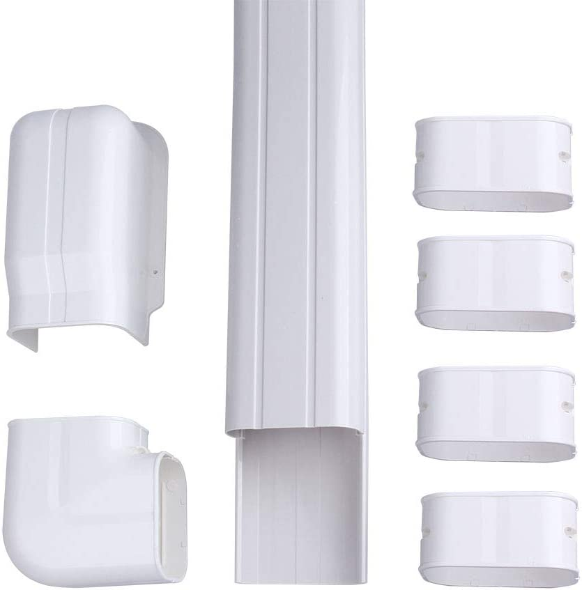 Ac Parts 4 W 14ft Decorative Pvc Line Set Cover Kit For Mini Split Air Conditioners Hvac Heat Pumps 7 000 36 000 Btu Units Amazon Ca Home Kitchen