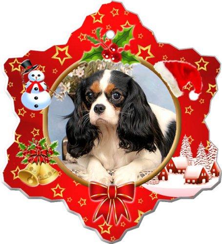 Cavalier King Charles Spaniel Porcelain Holiday Ornament