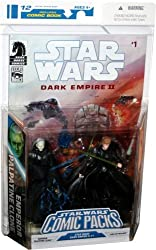 Star Wars Dark Empire Comic Packs Emperor Palpatine Clone & Luke Skywalker Moc