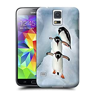 lincase Gentoo penguins in Antarctica wearproof Tpu material hard case cover for Samsung Galaxy S5