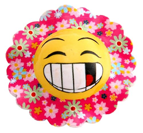 Click Selfie New Ladies Emoji Face Emotions Hair Clips Hair Accessories Yellow-Happy