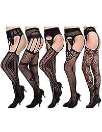 KUUQA Fishnets Stockings High Tights Mesh Stockings Pantyhose for Women
