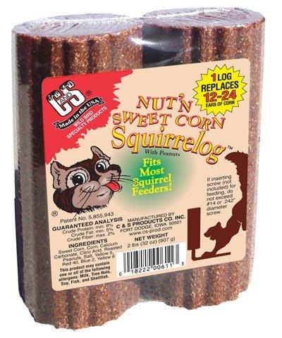 BestNest Bulk Buy of C&S Nut'n Sweet Corn Squirrelogs, 16 oz. each ()