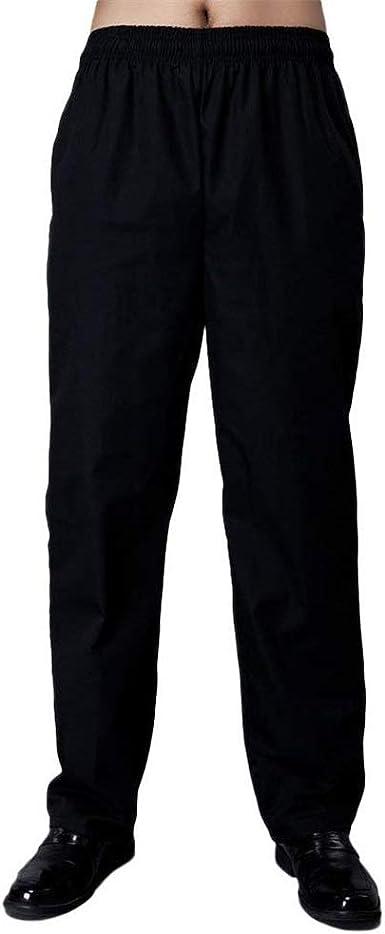 Bobolily Unisex Pantalones De Trabajo Para Mujer Para Hombre Pantalones De Chef Pantalones De Hotel Con Pantalones De Color Solido Elastico Pantalones Pantalones Casuales Amazon Es Ropa Y Accesorios