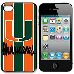 NCAA Miami Hurricanes Iphone 4 and 4s Case Cover