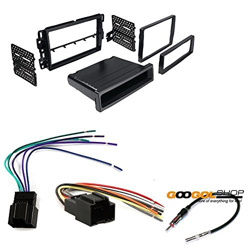 CAR STEREO DASH INSTALL MOUNTING KIT WIRE HARNESS RADIO ANTENNA GMC CHEVROLET SATURN HUMMER BUICK (Car Stereo Installation Kit Chevy compare prices)