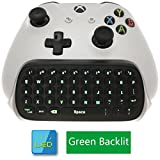 Whiteoak Xbox One S Chatpad Mini Backlit Gaming Keyboard Wireless Chat Message KeyPad with Audio/Headset Jack for Xbox One Elite & Slim Game Controller Gamepad - 2.4GHz Receiver included -Black