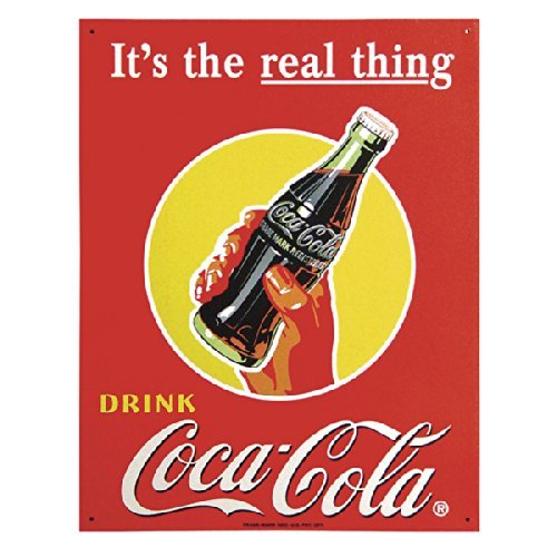 Poster Discount TIN Sign Coke Real Thing - Bottle, 13x16