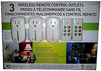 3 Wireless Remote Control Outlets by Capstone