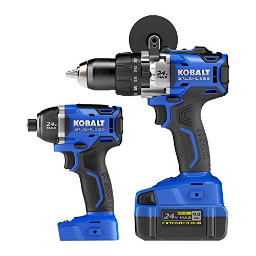 KOBALT 24V Max Brushless 2-Tool Combo Kit - 0790022 Brand NE