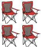 Automotive : Coleman Broadband Quad Chairs w/ Mesh Back & Transport Bag (4 Pack)