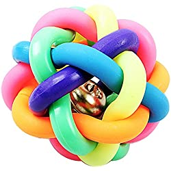 Dog Toy Ball with Bell bounce ball dog 2.56 inch diameter 65g