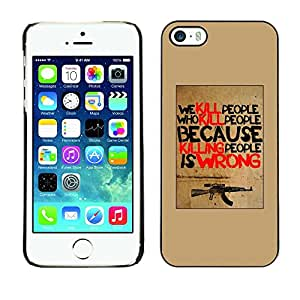 FlareStar Colour Printing Kill Guns Machine War Poster Inspiring cáscara Funda Case Caso de plástico para Apple iPhone 5 / iPhone 5S