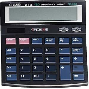 Citizen 12 Digit Black Calculator, CTZ CT 555