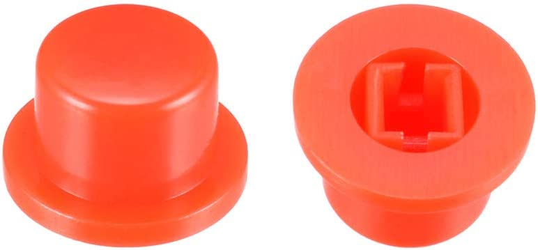 uxcell 20Pcs Plastic 9.3x5.6mm Pushbutton Tactile Switch Caps Cover Keycaps Red for 6x6x7.3mm Tact Switch