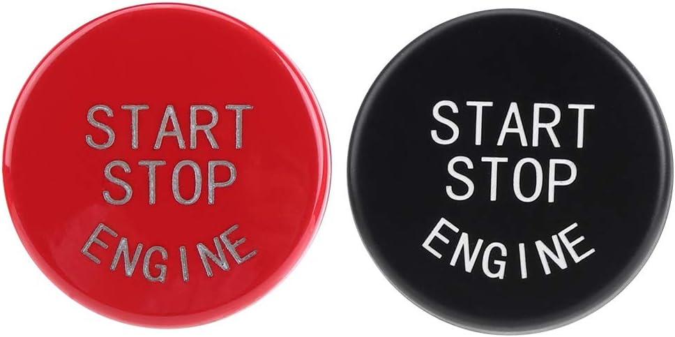 rouge Bouton Poussoir D/émarrage Bouton dArr/êt de D/émarrage /à une Touche Automatique du Moteur de Voiture