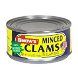 Snows Clam Minced, 6.5-Ounce Cans (Pack of 12)