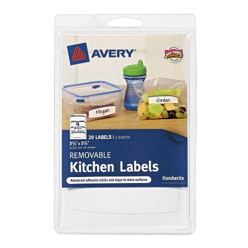 Avery Removable Kitchen Labels 41454