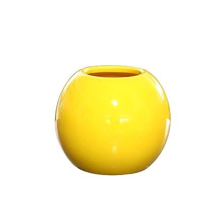 Amazon Kicode Mini Vase Round Ball Ceramic Pottery Flower Pot