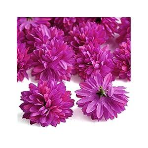 Ajetex 20pcs Artificial Gerbera Daisy Flower Heads diameter 50mm Wedding Party Decor Hair Clip Accessories 33