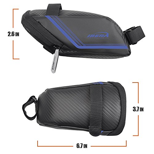 Ibera Bicycle Water Resistant Bike Saddle Bag/ Seat Bag/ Cycling Bag for Road and Other Bikes