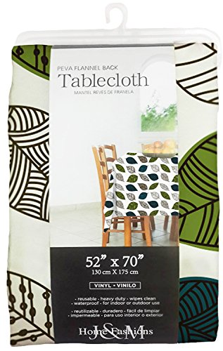 Waterproof Spill Proof Vinyl Printed Tablecloth, 52x70