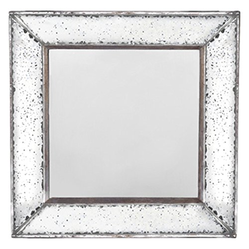A&B Home Antique-Look Framess Square Wall Mirror Tray, 18