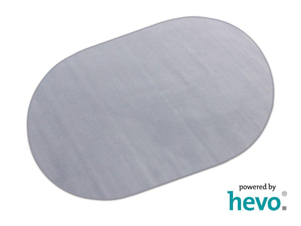 HEVO Romeo grau Teppich   Kinderteppich   Spielteppich 200x280 cm Oval
