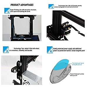 Comgrow Ender 3 Creality 3D Printer with Resume Printing Function for Home & School Use 220x220x250mm from Creality 3D