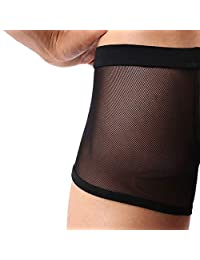 Forest Men's Sexy Underwear Mesh Breathable Boxer Briefs Cool Briefs Pack