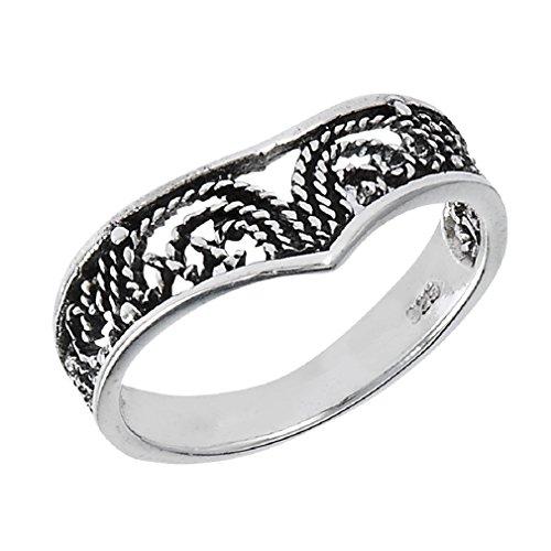 .925 Sterling Silver Bali Wirework Filigree ()