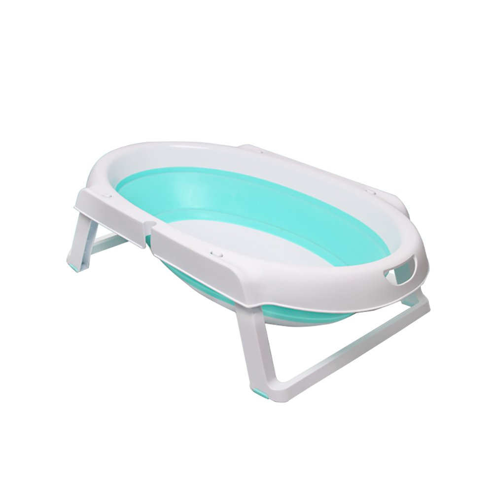TOYM US Foldable Baby Tub Newborn Can Sit And Lie In The Universal Baby Tub  for Ages 0-3 Years Old (Color : Green)