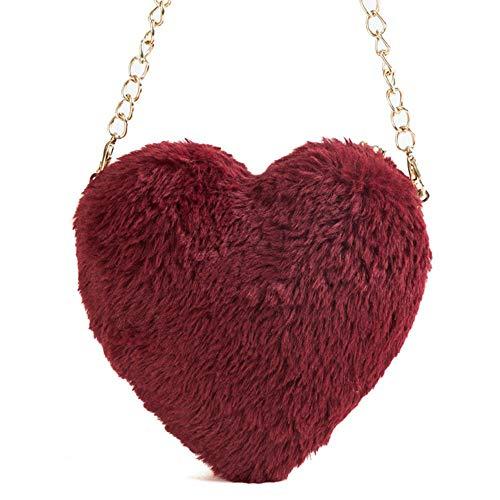 Clutch Wm Mujer De Bag Dinner Plush Bandolera Bolso Bolsa Amor qxUFz6wv