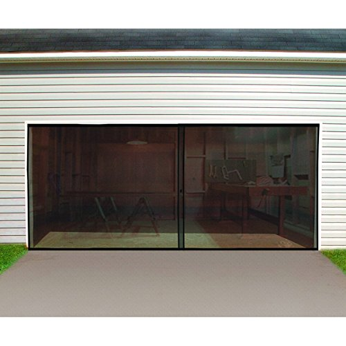 Double Garage Door Screen from TNM by HF