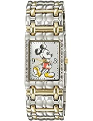 Disney Mickey Mouse Mens W002510 Mickey Mouse Two-Tone Stainless Steel Watch