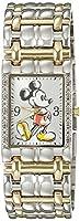 Disney Mickey Mouse Men's W002510 Mickey Mouse Two-Tone Stai