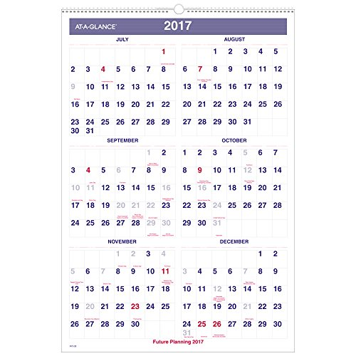 Amazon.com : AT-A-GLANCE Academic Year Monthly Wall Calendar, July ...