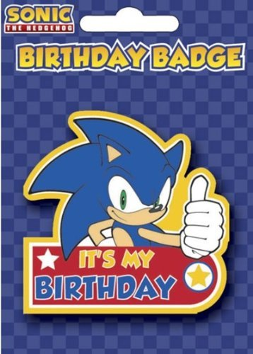 New Official Sonic The Hedgehog Birthday Badge Amazon Toys