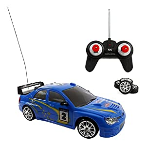 Liberty Imports Super Fast Drift Blue Star R/C Sports Car Remote Control Drifting Race Car 1:24 + Headlights, Backlights, Side Lights + 2 Sets of Tires