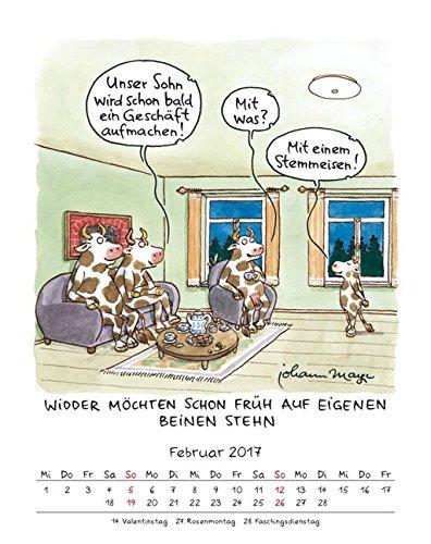Widder 2017 Sternzeichen Cartoonkalender Kalender Wandkalender 1
