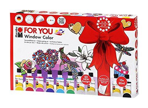 Marabu 040600116 - Window Color Set - For You, 80 ml
