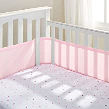 BreathableBaby Breathable Mesh Crib Liner, Light Pink (Discontinued by Manufacturer)