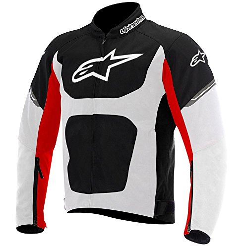 Alpinestars Viper Air Textile Mens Motorcycle Jackets - Black/White/Red - Large (Textile Jacket Air)