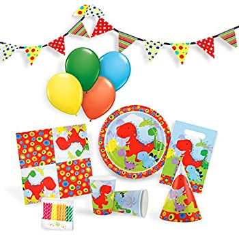 Little Dinosaur Party Supplies Set For 12