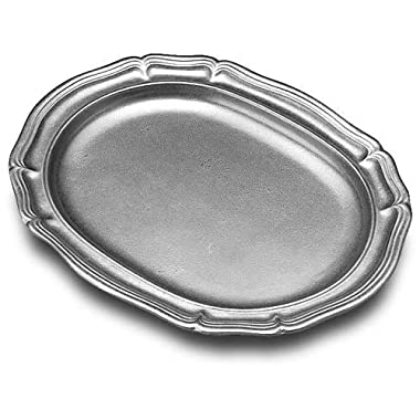 Wilton Armetale Country French Serving Tray, Oval, 11-1/4-Inch by 14-1/4-Inch